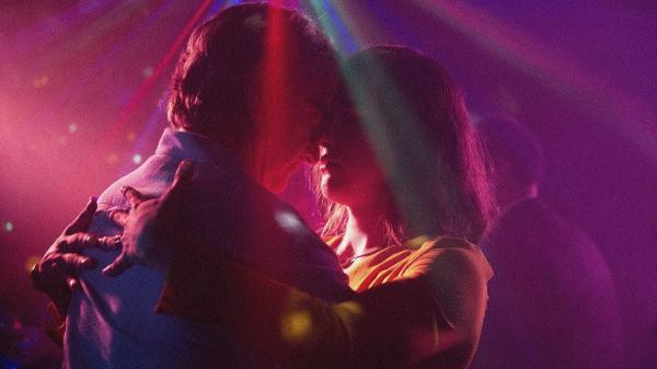 Transgender singer Marina (Daniela Vega, right with Francisco Reyes) navigates the fallout of her boyfriend's sudden death in <em>A Fantastic Woman</em>.