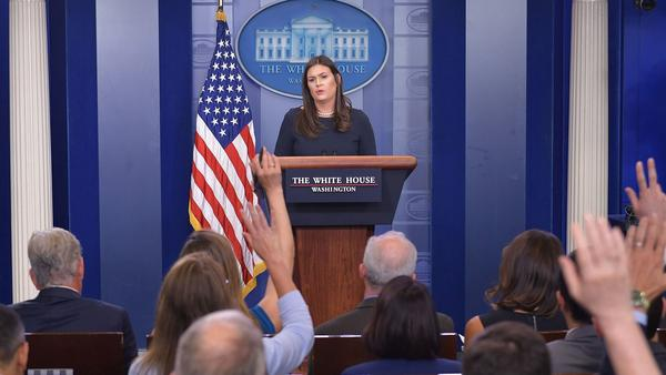 """All White House personnel have been instructed to use official email to conduct all government-related work,"" press secretary Sarah Sanders said after reports emerged of senior Trump administration officials using private email."