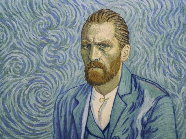 Robert Gulaczyk as a Vincent van Gough self portrait in <em>Loving Vincent</em>