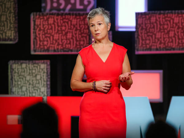 Sharon Terry on the TED stage