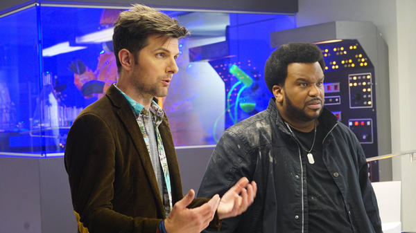 The Z-Files: Adam Scott and Craig Robinson in <em>Ghosted</em>.