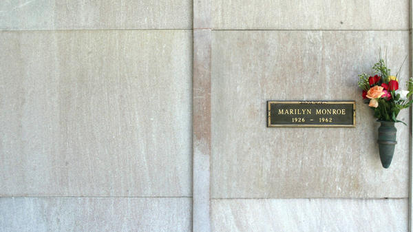 <em>Playboy</em> founder Hugh Hefner often spoke of how he would one day be entombed in the plot he'd bought next to Marilyn Monroe. Her crypt is at the Westwood Village Memorial Park in Los Angeles.