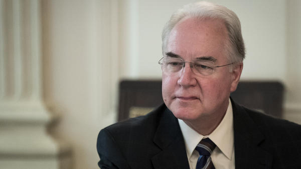 Secretary of Health and Human Services Tom Price, shown here at a discussion about opioids on Thursday, drew fire for his use of private jets.