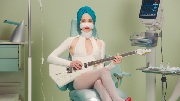 "A still from St. Vincent's ""Los Ageless"" video."