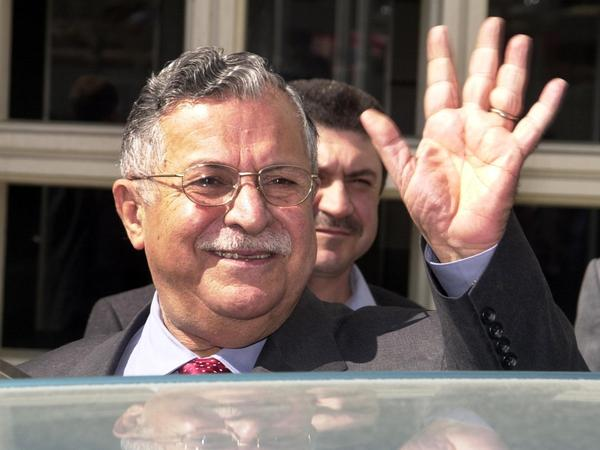 Jalal Talabani, shown here in 2003 in Istanbul, died Tuesday in Germany at age 83.