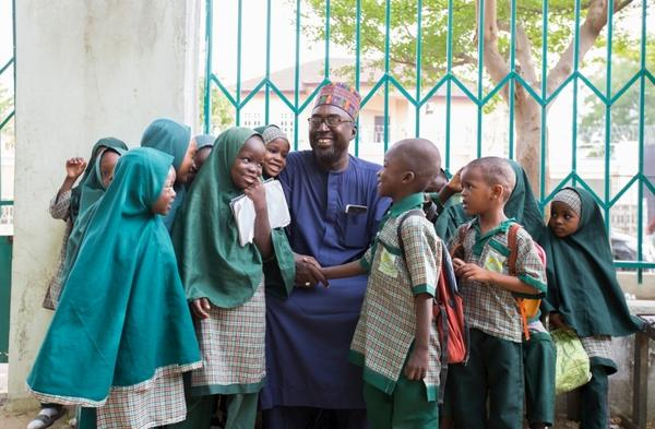 Zannah Mustapha and the students of the Future Prowess School he founded for children caught up in the Boko Haram conflict. This week he won a U.N. prize for his efforts.