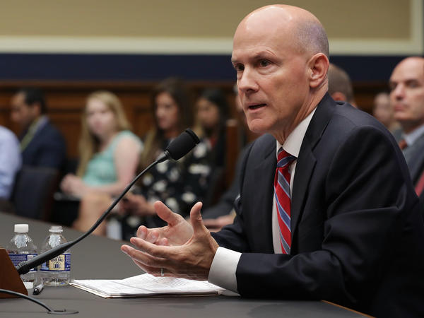 Former Equifax CEO Richard Smith testifies about the company's massive data breach before a House Energy and Commerce subcommittee on Tuesday.