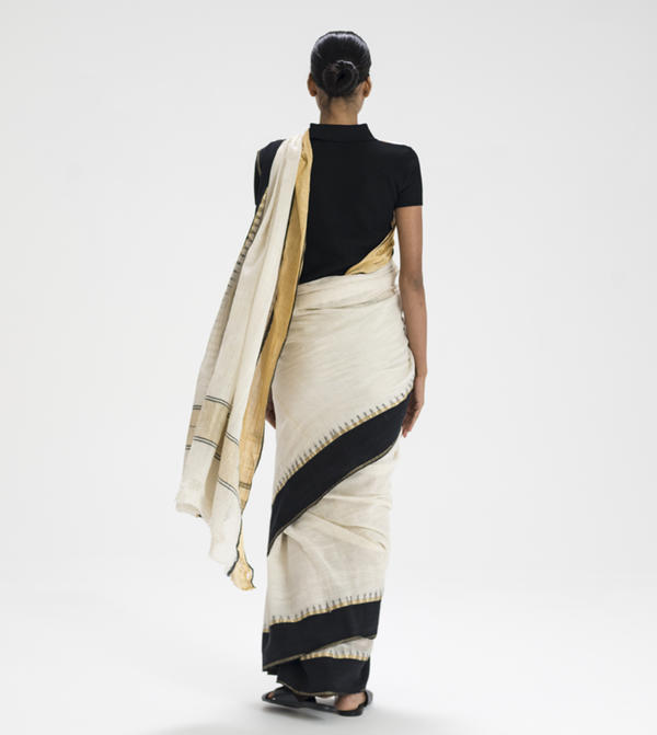 According to Antonelli, the ingenuity of an Indian sari lies in its transformability.