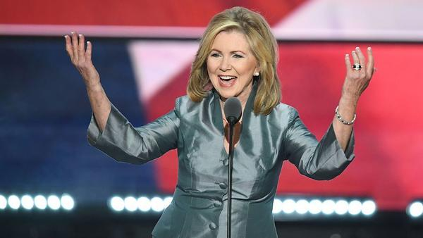 Rep. Marsha Blackburn, R-Tenn., speaks on the last day of the Republican National Convention in Cleveland last July.