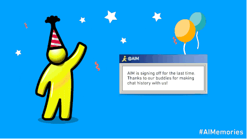 An announcement from Oath Inc., the Verizon Communications subsidiary that owns AOL and Yahoo, that AOL Instant Messenger will cease in December.