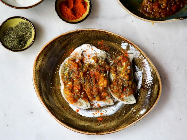 Afghan <em>aushak</em> (dumplings) from Lapis, a restaurant in Washington, D.C., run by the Popal family