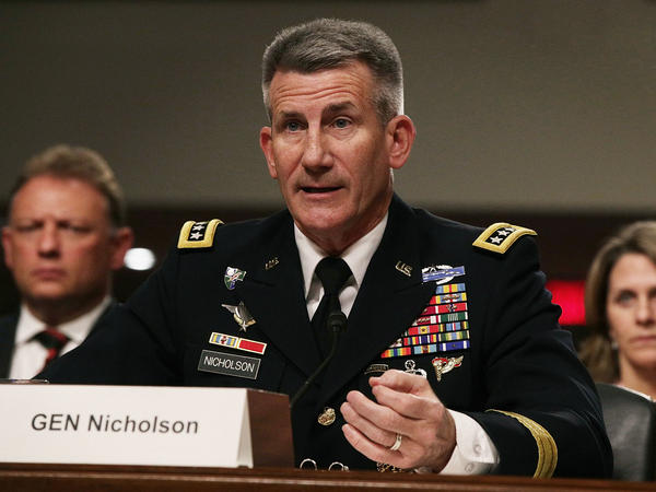 "U.S. Army Gen. John Nicholson told the Senate Armed Services Committee in February that the war in Afghanistan was at a ""stalemate."""
