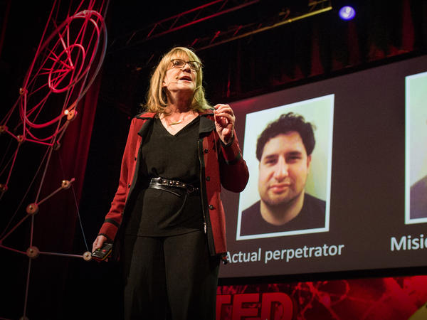 Elizabeth Loftus on the TED stage