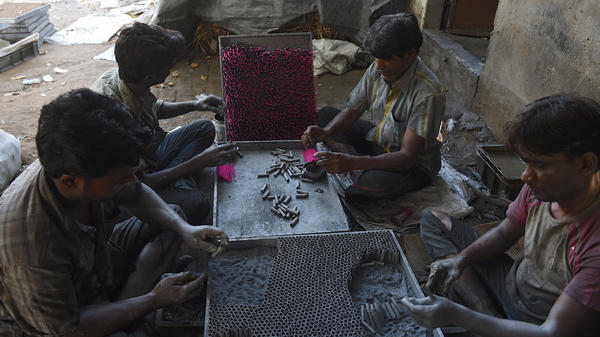 Workers in India prepared firecrackers at a workshop on the outskirts of Ahmedabad last month, ahead of the Diwali festival that peaks on Oct. 19.