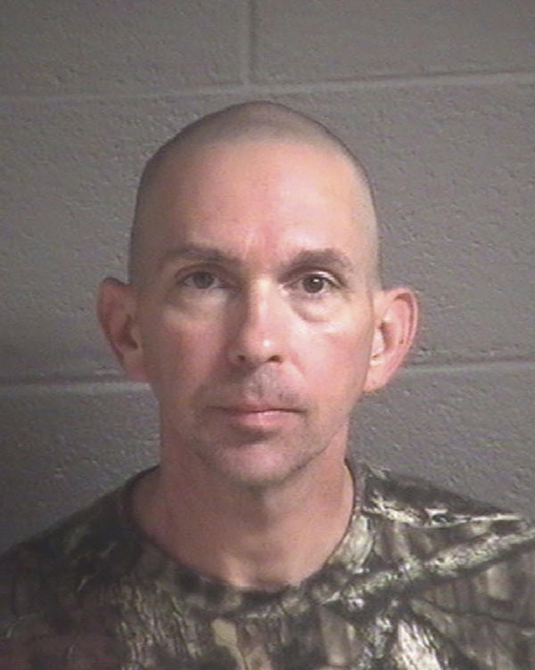 An undated photo provided by the Buncombe County Detention Center shows Michael Christopher Estes, who is accused of planting an improvised explosive device at the Asheville Regional Airport in North Carolina on Oct. 6.