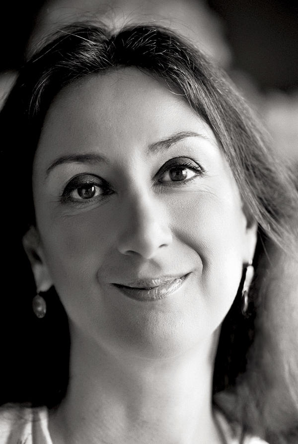 An undated photo shows Daphne Caruana Galizia, a Maltese investigative journalist who was killed on Monday when a bomb destroyed her car.