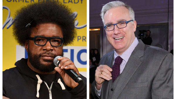 """How is [Keith] Olbermann on my side of the fence (politics) but not on my side (hip hop)?"" The Roots' Questlove pondered before creating his <em>Keith O Challenge </em>crash course."