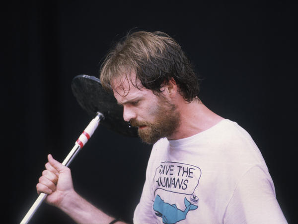 Downie performing with The Tragically Hip in April 1993.