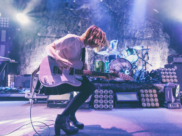 Carrie Brownstein performing with Sleater-Kinney at the 9:30 Club in Washington, D.C.