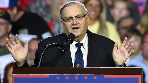 Former Sheriff Joe Arpaio's bid to have his criminal conviction vacated was denied by a federal judge. Arpaio is seen here at a Trump rally last year.