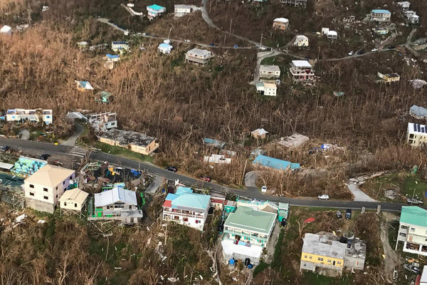 Storm damage in the aftermath of Hurricane Irma on Sept. 12 in Cruz Bay, St. John, U.S. Virgin Islands.