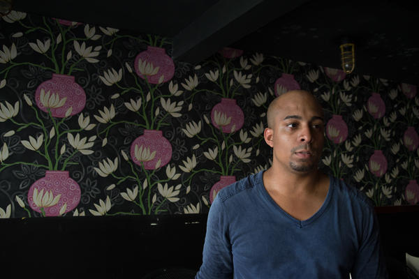 """Puerto Rican chef Jose Sanchez inside his restaurant Pera Maraya. """"Everything was going perfect,"""" says Sanchez, 28. """"Then the storm hit."""""""