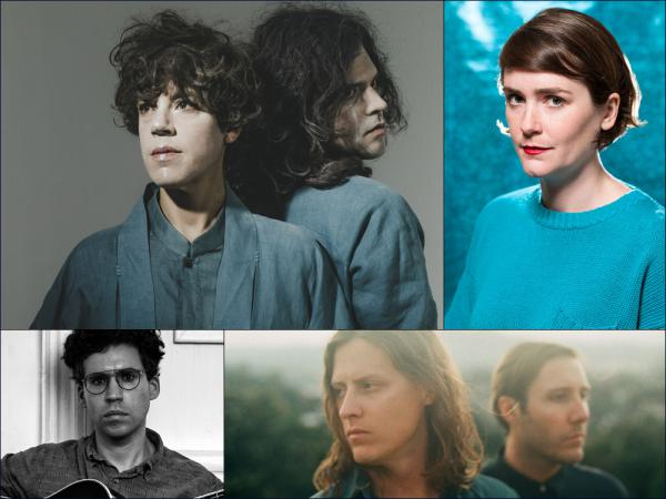Clockwise from upper left: Tune-Yards, Caroline Says, Balmorhea, A. Savage
