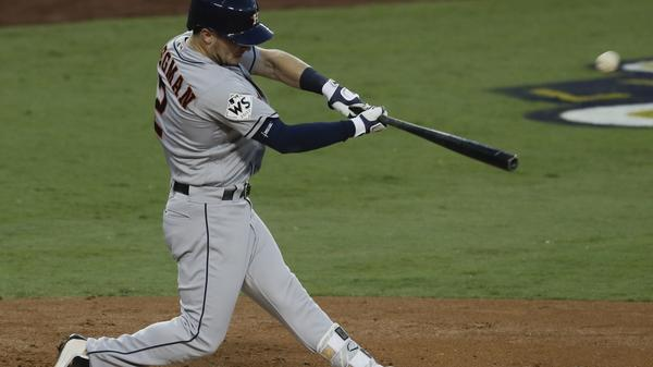 Houston's Alex Bregman gets the Astros on the board with a home run during the fourth inning.