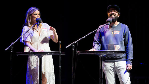 Missi Pyle and Brett Gelman on Ask Me Another.