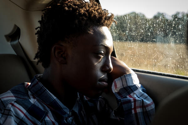 A car ride through rural Arkansas with the photographer's cousin, Jashion.