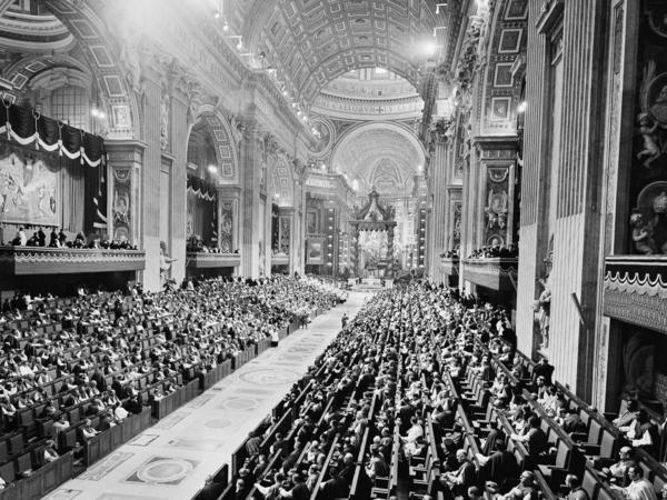 The closing ceremonies of Vatican II's first phase are held at St. Peter's Basilica in Vatican City on Dec. 8, 1962. The Catholic Church accepted many of Luther's teachings in the Vatican II Council.