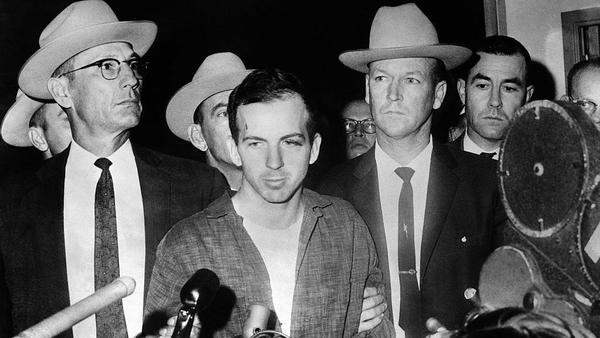 Lee Harvey Oswald is shown on Nov. 22, 1963, after being arrested for the murder of President John F. Kennedy.