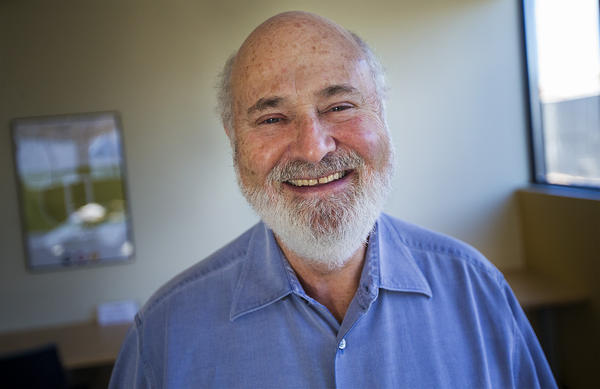Actor, writer, director, producer and activist Rob Reiner in the WBUR studios. (Jesse Costa/WBUR)