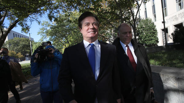 Former Trump campaign chairman Paul Manafort leaves U.S. District Court after pleading not guilty following his indictment on federal charges on Monday, October 30, 2017 in Washington, D.C.