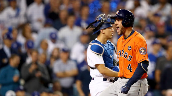George Springer's double and later his two-run homer helped the Houston Astros to build up an early lead that they never relinquished.