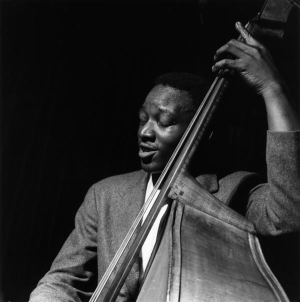 Wilbur Ware during the recording of <em>A Night at the Village Vanguard</em>.