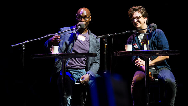 Lance Reddick and Paul Rust on Ask Me Another.