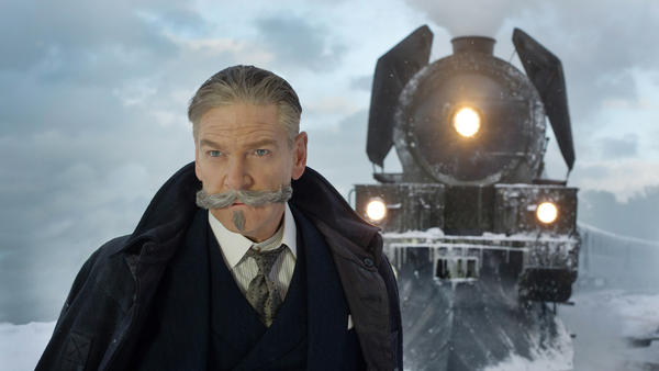 The mustache should get second billing: Kenneth Branagh is Hercule Poirot in <em>Murder on the Orient Express</em>.