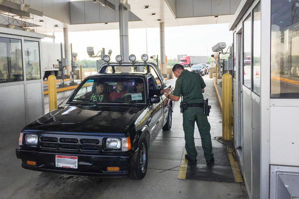 Border Patrol agents at the checkpoint north of Laredo, Texas, look for smuggled drugs, undocumented immigrants and terrorists.