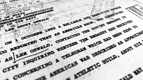 "Part of a file from the CIA, dated Oct. 10, 1963, details ""a reliable and sensitive source in Mexico"" report of Lee Harvey Oswald's contact with the Soviet Union embassy in Mexico City, that was released for the first time on Friday, Nov. 3, 2017, by the National Archives."