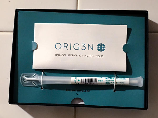 The Boston-based company Orig3n has been offering free genetic testing at pro sports games.