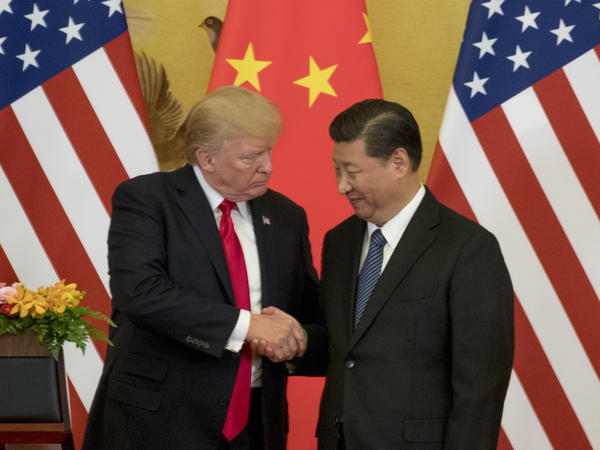 President Trump and Chinese President Xi Jinping made a joint statement to the media at the Great Hall of the People on Thursday in Beijing.