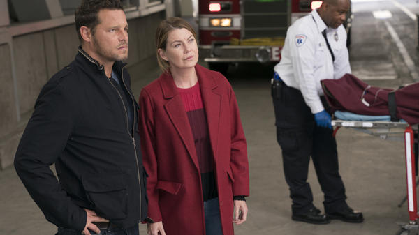 <em>Grey's Anatomy</em> is now in its 14th season, one season shy of equaling <em>ER</em>'s record as TV's longest-running medical drama. (Pictured: Justin Chambers and Ellen Pompeo)
