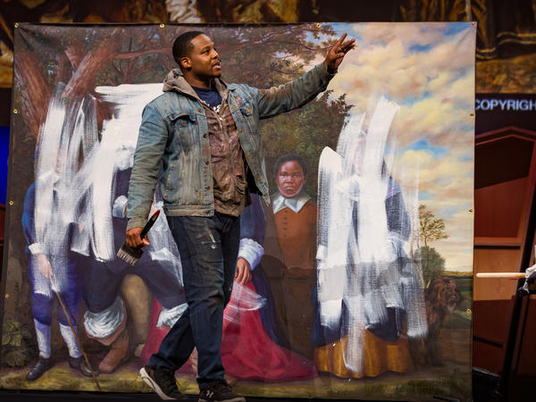 Titus Kaphar on the TED stage