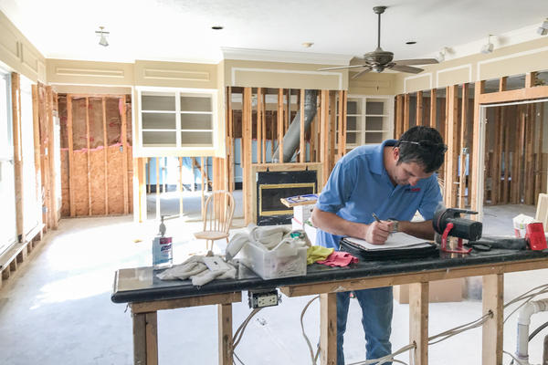 "A gutted house stripped of dry wall and insulation allows investors to more easily spot problems with a property. ""As unfortunate as this situation is,"" investor Corey Boyer says, ""this is one of the best situations for somebody like myself because you see everything."""