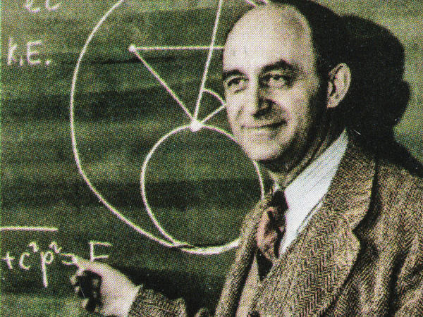 Nuclear physicist Enrico Fermi, as seen on a 2001 USA postage stamp.