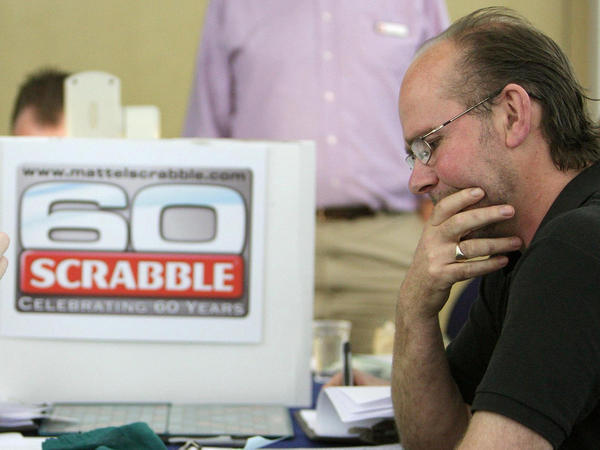 Allan Simmons, then 51, competes in the final of the U.K.'s National Scrabble Championships in London in 2008, which he would go on to win.