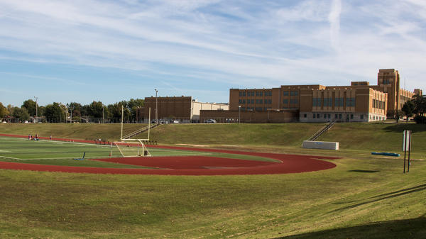 Tulsa's flood control plan includes multi-use drainage basins, like the athletic field at Will Rogers High School. It doubles as a detention pond for overflowing storm water.