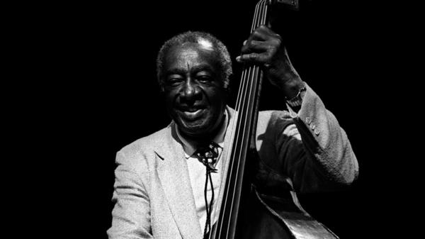 Milt Hinton performs on stage at the North Sea Jazz Festival in Holland on July 11, 1991.