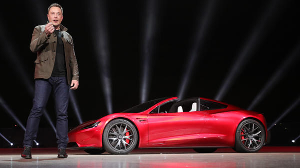 Elon Musk had a surprise for Tesla fans Thursday: a new Roadster supercar with a top speed above 250 mph.